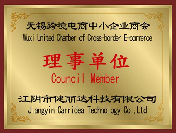 健丽达无锡跨境电商中小企业商会理事单位